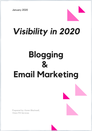 Copy of Visibility 2020 Blogging & Email